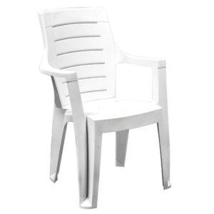 poltrona sedia con braccioli cleopatra bianca